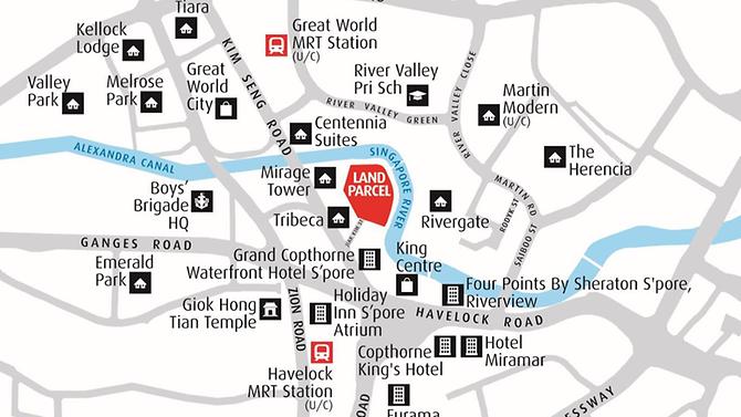 Map of Jiak Kim Street Site by CNA