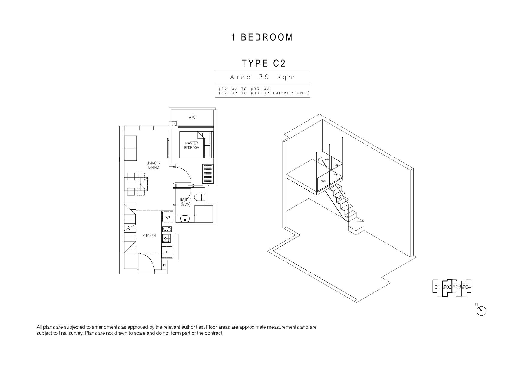 120 Grange 1 Bedroom type C2