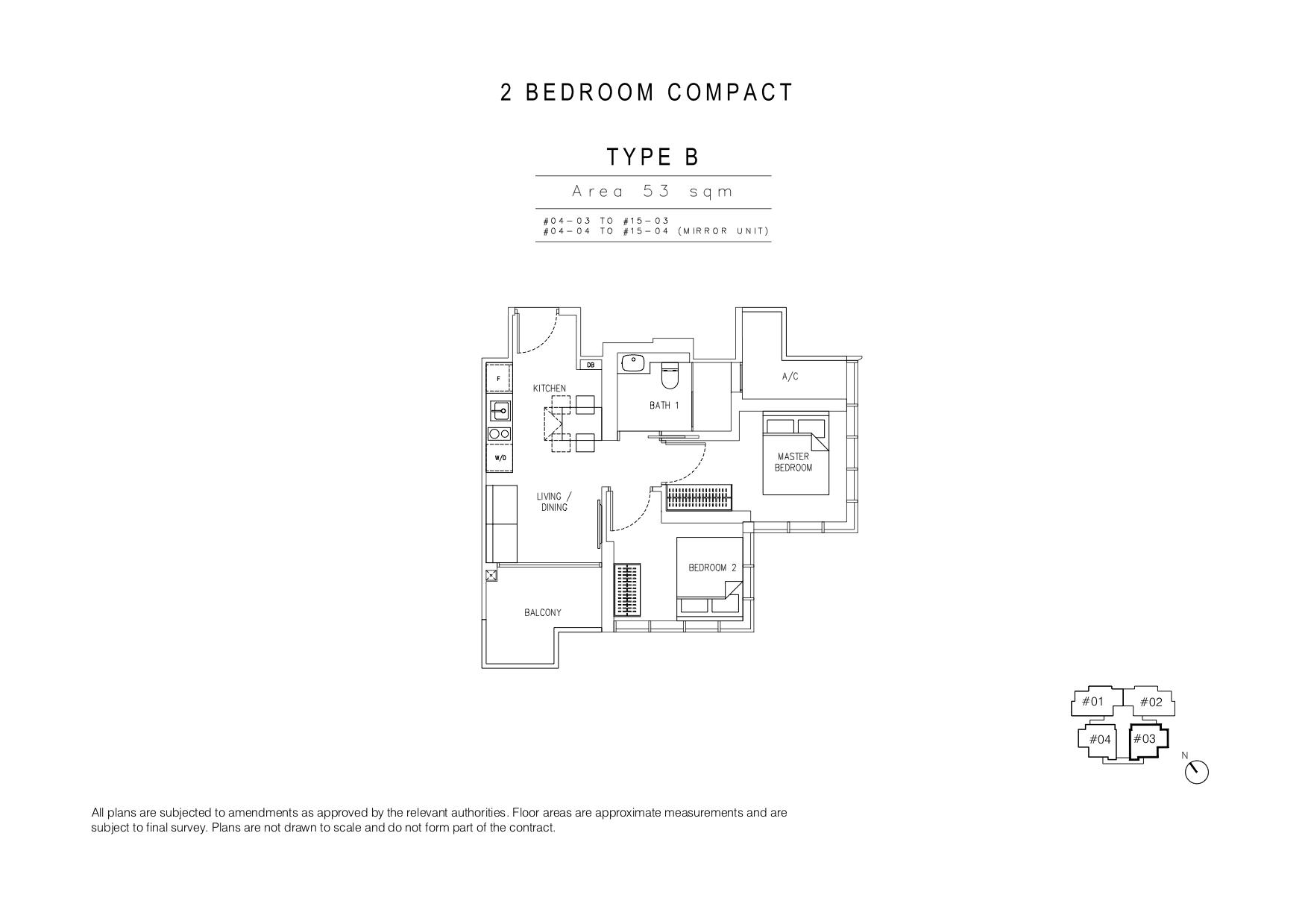 120 Grange 2 bedroom type