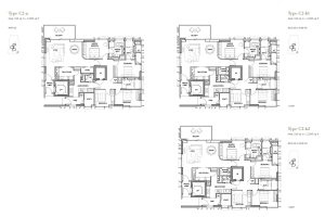 3 Orchard by the Park 4 bedroom floorpans